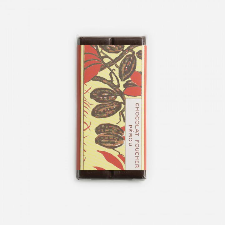 Tablette chocolat noir 100 g Origine Pérou