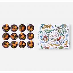 Mendiants chocolat noir 140 g - Boite dessinée par Cyril Destrade