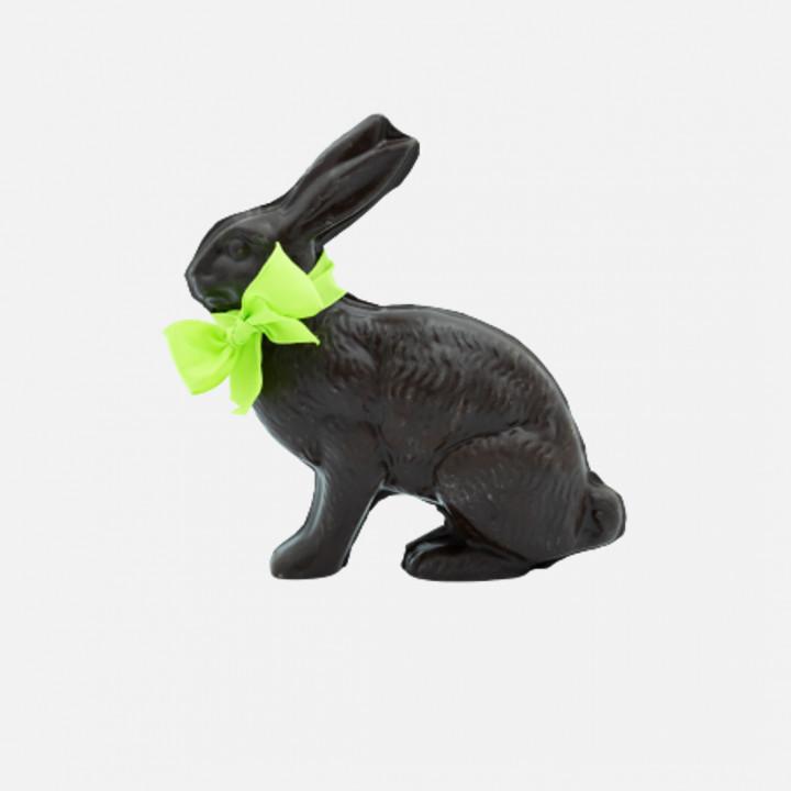 Lièvre en chocolat noir 265g (Livraison uniquement par coursier dans Paris)
