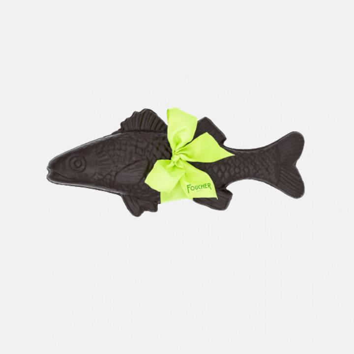 Poisson au chocolat noir garni de friture et d'œufs pralin 445g (Livraison uniquement par coursier dans Paris)