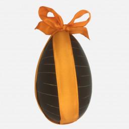 """Œuf """"strié"""" au chocolat noir garni de friture et d'œufs au praliné 560g (Livraison uniquement par coursier dans Paris)"""