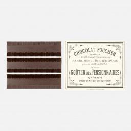 Barres en chocolat au praliné amande - 100g - Boite Foucher 1895